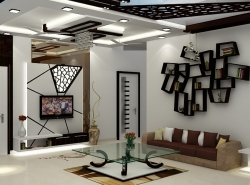 Stylish Living Room Interior Designer In Noida